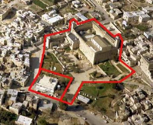 The plans for the Welcome Center in Hebron outlined. (Photo: Build Up Israel)