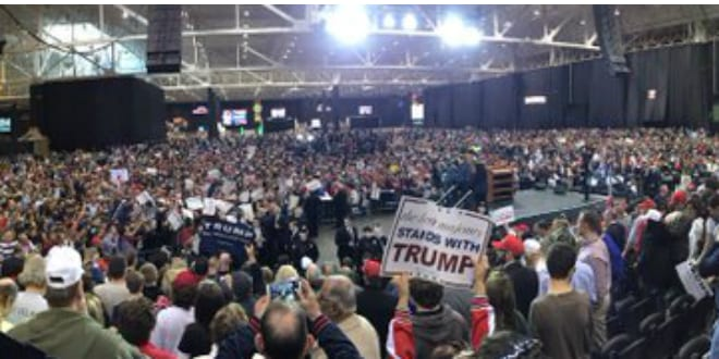 Security surrounds trump as violence continues to mar his campaign trump rally in ohio photo via twitter publicscrutiny Image collections