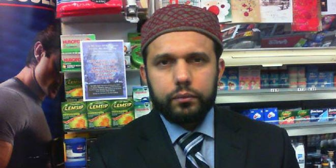 Asad Shah was murdered by a Muslim outside his shop in Glasgow, Scotland. (Photo: Asad Shah Facebook page)