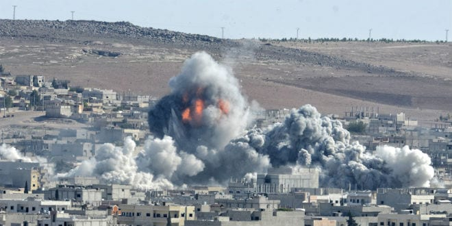 Coalition forces hitting to ISIS target in the Kobani district in Syria. (Shutterstock)