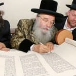 PHOTOS: Torah Scroll Written for Messiah Consecrated With Much Joy And Celebration