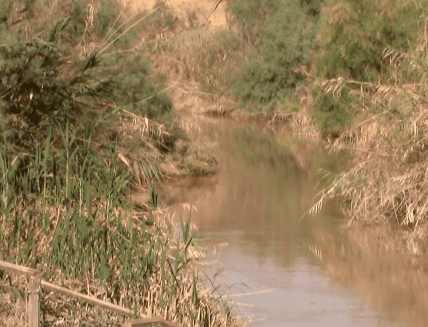 Jordan River at site of Joshua's Crossing. (Photo: Bob O'Dell)