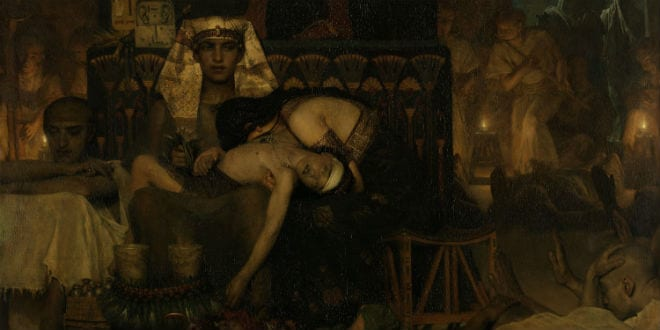 Death of the Pharaoh's Firstborn Son, by Lawrence Alma Tadema, 1872, English painting oil on canvas. (Photo: Everett - Art / Shutterstock)