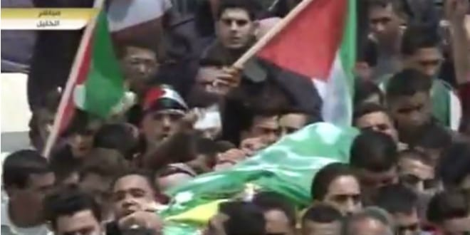 Funeral of Abdel Fattah al-Sharif (Photo is a YouTube video capture)