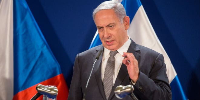 PM Benjamin Netanyahu attends signing of bilateral agreements between Israel and Czech Republic Prime Minister Bohuslav Sobotka (Photo: Hillel Maeir/TPS)