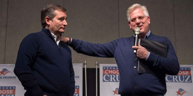 Ted Cruz and Glenn Beck on the campaign trail together in January. (Facebook)
