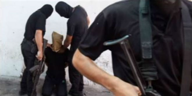 A public execution in Gaza carried out by Hamas. (Screenshot)
