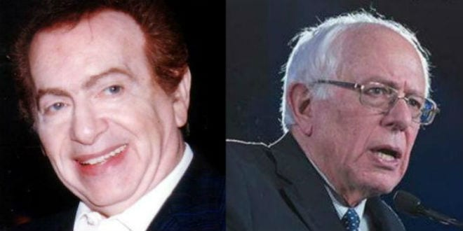 Two Jews with very different views of Israel. Jackie Mason (left) and Bernie Sanders. (Breaking Israel News)