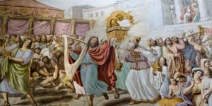 King David rejoices as the Ark is returned to the Temple. (Photo: Shutterstock.com)