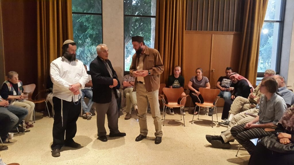 Jews, Christians and Muslims discussed prayer and prayed together in Jerusalem on May 9. (Courtesy Abrahamic Reunion)