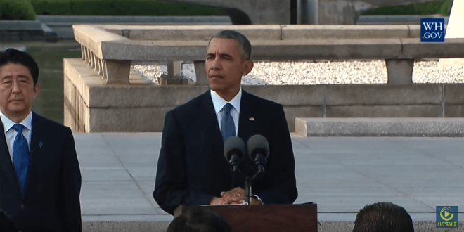 President Barack Obama became the first sitting US president to visit Hiroshima on Memorial Day weekend, May 2016. (Video screenshot)