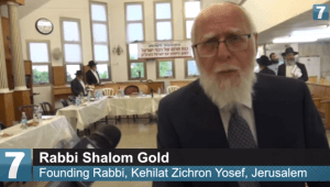"Rabbi Shalom Gold at the ""Emergency Conference for the Security of the Nation of Israel in the Holy Land"" in Jerusalem on Sunday, May 15, 2016. (Photo: YouTube screenshot/Arutz Sheva)"