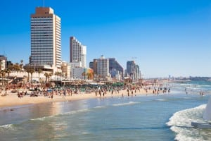 The beach of Tel Aviv. (Shutterstock)
