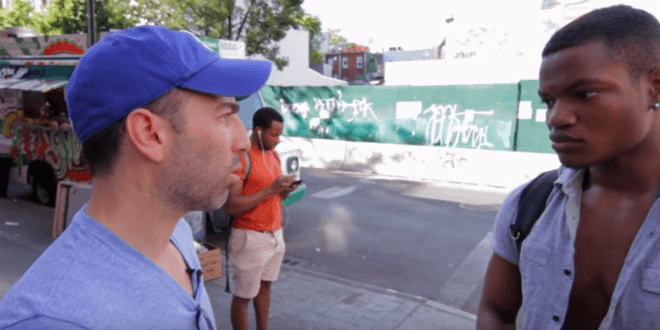 Ami Horowitz interviews a young man who believes Republicans deserve more blame over the Orlando shooting than does Islam. (Photo: Video screenshot)