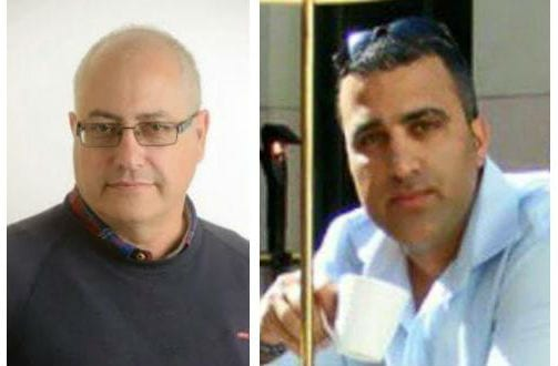 Michael Feigeh (L), 58, and Ido Ben Aryeh (R), 42 were killed by Palestinian terrorists in Tel Aviv Wednesday night June 8. (Photo: StandWIthUs/Facebook)