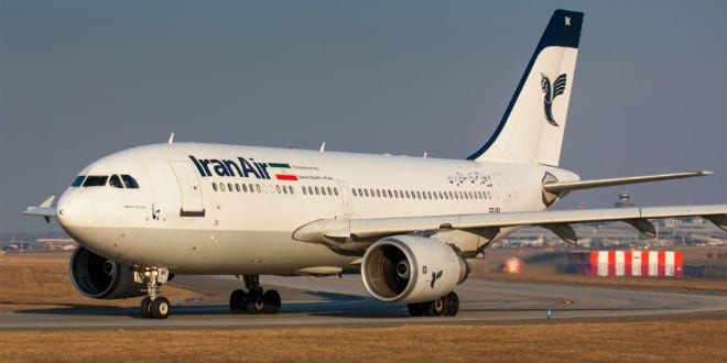 Iran Air Airbus A310 airliner taxes for take off on February 26, 2011 in Prague,Czech Republic. Iran Air is the flag carrier airline of Iran, operating services to 60 destinations. (Photo: Rebius / Shutterstock.com)