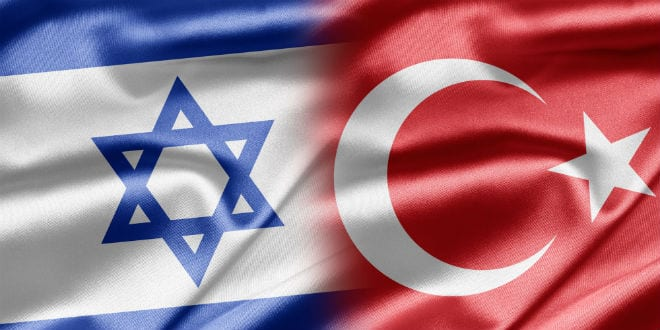 Illustrative: The flags of Israel (L) and Turkey (R). (Photo: Shutterstock.com)