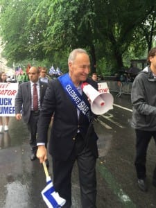 Senator Chuck Schumer at the Celebrate Israel Parade in New York City. (Celebrate Israel Facebook Page)