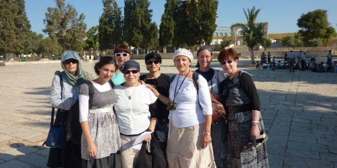 Women for the Holy Temple make pilgrimage to the Temple Mount (Photo: Women for the Holy Temple)