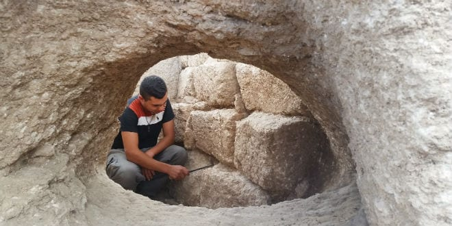 The rare pottery kiln that was used to fire jars in the ancient workshop. Photographic credit: Royee Liran, Israel Antiquities Authority. 27.7.16 (Photo: Courtesy)