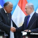 Egyptian Foreign Minister Lobbies For Peace During Meeting With Netanyahu