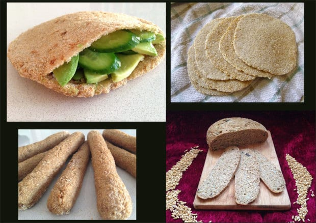 Some of Samantha Siegel's creations made from sprouted bread. (Photo: Courtesy)