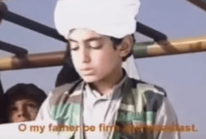 Hamza bin Laden as a youth during a speech directed at the United States threatening attacks on American soil. (Photo: video screenshot)