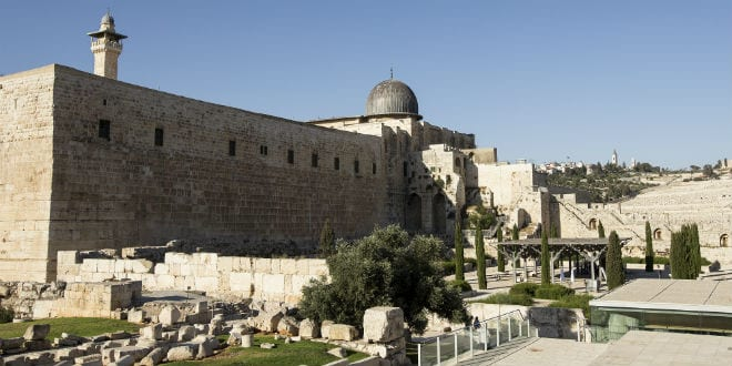 The Archaeology Park on the Temple Mount under the Al-Aqsa Mosque. (Andrew McIntire/TPS)