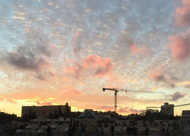 Twilight Over West Jerusalem. (Photo: Bob O'Dell)