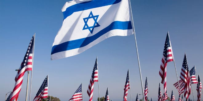 Flag of Israel among 3000 Flags at 9/11 memorial on September 11, 2009 in Malibu, CA. (Photo: Shutterstock.com)