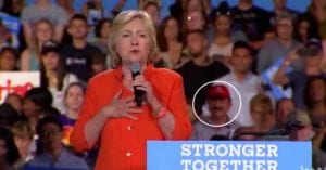 Clinton gives tribute to victims of Orlando shooting while killer's father sits yards away (YouTube screen capture)