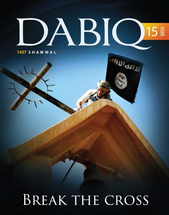 A page off the Dabiq magazine, July 2016 issue. (Photo: JNi Media)