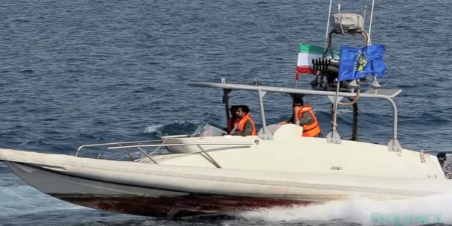 Iranian Navy Small Craft harassing US Navy vessels (YouTube video capture)
