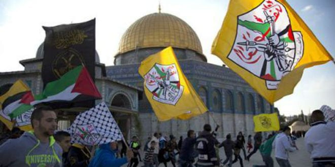 Palestinians riot on the Temple Mount.
