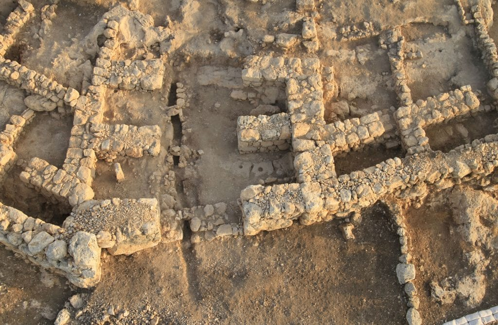 The southern gate of the Khirbet Qeiyafa archaeological site. (Bible Lands Museum Jerusalem Spokesperson)