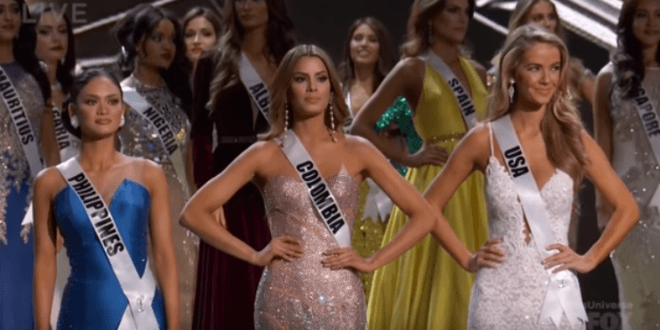 Finalists in the 2016 Miss Universe pageant. (Video Screenshot)