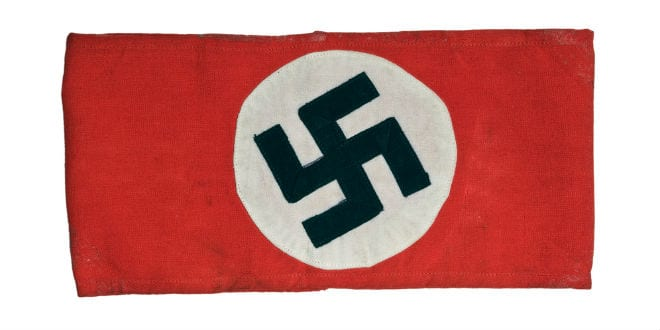 A Nazi armband bearing a swastika from World War II. (Shutterstock)