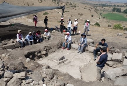 The Tel Rechesh excavation site. (Credit: The Japanese archaeological delegation)