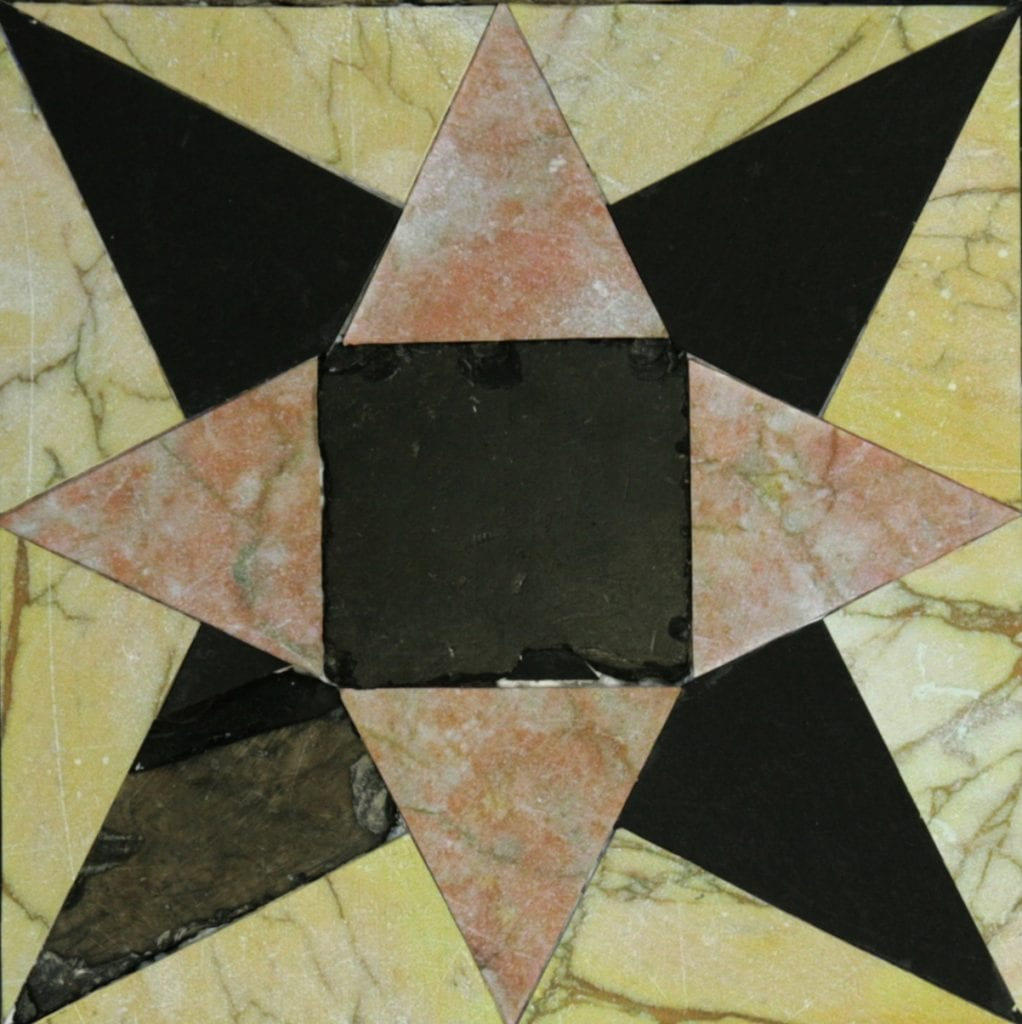 An eight-pointed star floor tile from the Second Temple. (Temple Mount Sifting Project/Zachi Dvira)