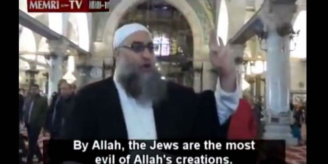 Muslim Cleric who Advocated the Slaughter of Jews Sentenced to 8 Months in Prison