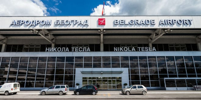 Belgrade Nikola Tesla Airport on May, 14, 2013, Belgrade, Serbia.  (saiko3p / Shutterstock.com)