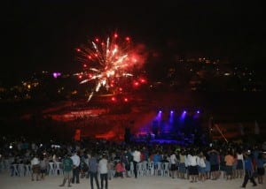 Celebrations of the 40th anniversary since Jewish settlement in Biblical Samaria. (Tsachi Miri/TPS)