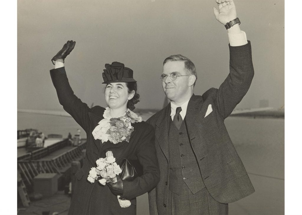 Martha and Waitstill Sharp, the subject of the new documentary, leaving for Prague in 1939. (Sharp Family Archives.)