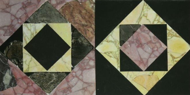 Floor tiles from the Second Temple. (Temple Mount Sifting Project/Zachi Dvira)