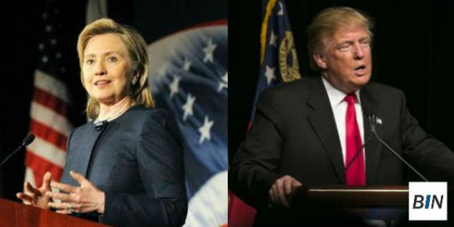 Hillary Clinton and Donald Trump. (Breaking Israel News)