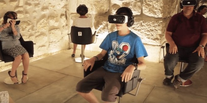 Viewers have an immersive, 3D, virtual reality experience of the Holy Temple when it still stood. (Video screenshot)