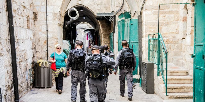 Security has been increased in Jerusalem, particularly the Old City, during Sukkot. October 17, 2016 (Kobi Richter/TPS)
