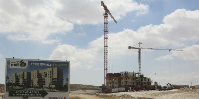 A construction site in the Jewish community of Har Homa, in the southeast area of Jerusalem, on September 7, 2014. (Flash90)
