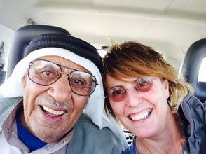 Kay Wilson with a friendly Arab Stranger (Photo courtesy Kay Wilson)