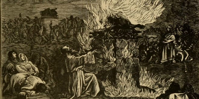 Elijah on Carmel (Photo via Wikimedia Commons)